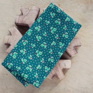 Green-Christmas-Holly-Fabric